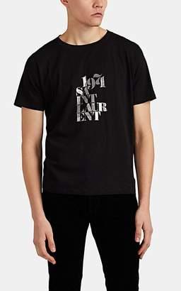 """Saint Laurent Men's """"1971"""" Cotton T-Shirt - Black"""