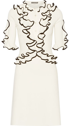 Alexander McQueen - Ruffled Wool Dress - Cream