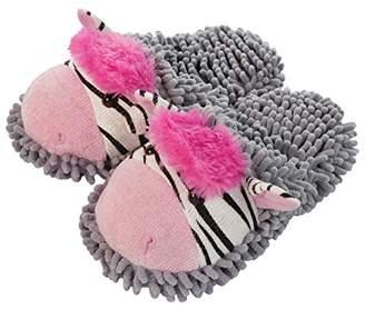 Fuzzy Friends Aroma Home Shoes Zebra, Women's Open Back Slippers,(41 EU)