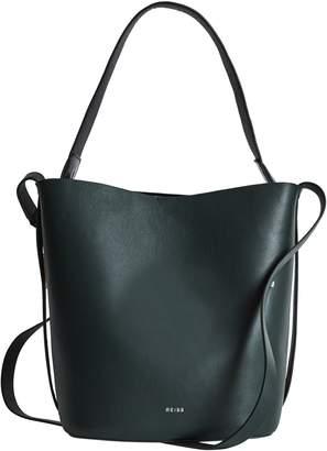 Reiss Hudson Snakeskin Trim Leather Bucket Bag