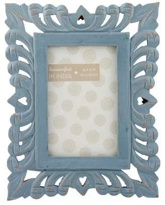 Azzure Home Blue India Wood Frame - 4x6