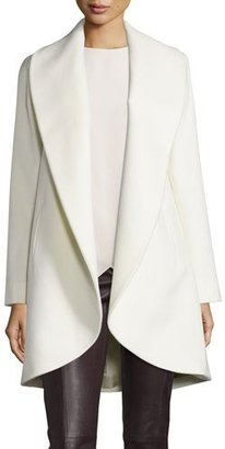 Fleurette Belted Wool Clutch Coat, Parchment $1,115 thestylecure.com