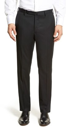 Men's Incotex 'Benson' Regular Fit Flat Front Solid Wool Trousers $395 thestylecure.com