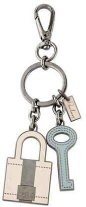 Burberry Key & Lock Charm Keychain Key & Lock Charm Keychain
