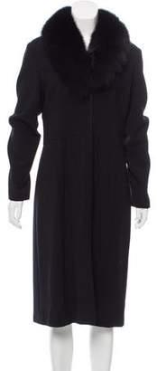 Heidi Weisel Fur Trimmed Evening Jacket