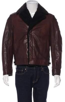 Gucci Lamb Shearling Moto Jacket