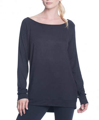 Gaiam Cutout Back Scoop Neck T-Shirt