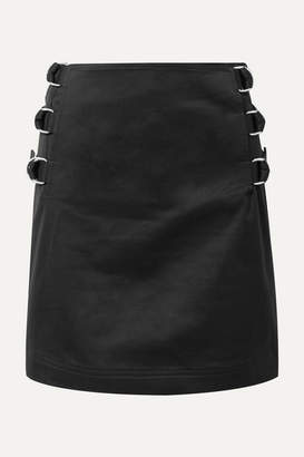 Helmut Lang Silk-twill Trimmed Cotton-twill Mini Skirt - Black