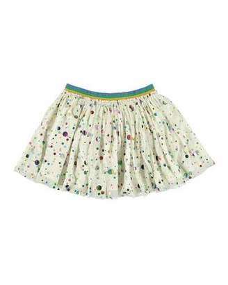 Stella McCartney Foil Dots Tulle Skirt, Size 5-14