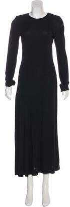 Calvin Klein Collection Long Sleeve Maxi Dress
