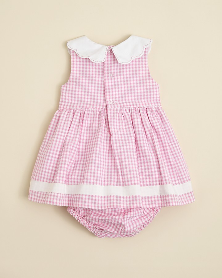 Hartstrings Infant Girls' Cotton Seersucker Dress with Diaper Cover - Sizes 0-12 Months