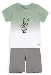 Hudson Little Boy's Two-Piece Cotton Tee and Shorts Set