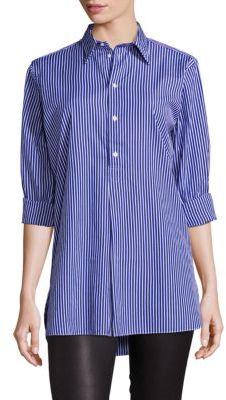 Polo Ralph Lauren Striped Cotton Tunic $125 thestylecure.com