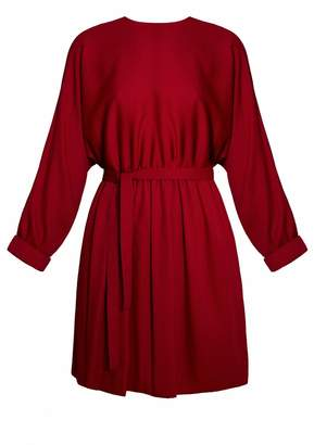 UNDRESS - Fika Red Mini Open Back Puffy Skirt Dress