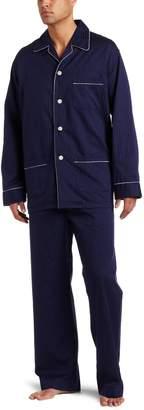 Derek Rose Men's Rich Dobby Striped Classic Pajama Set