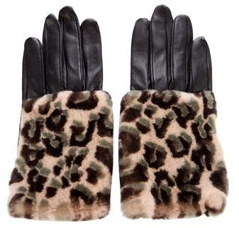 Louis VuittonLouis Vuitton Fur-Trimmed Leather Gloves