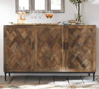 Pottery Barn Parquet Buffet