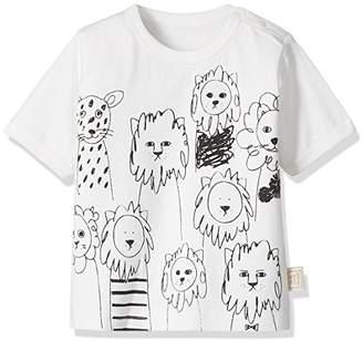 People Tree (ピープル ツリー) - People Tree (ピープルツリー) レオレオプリント オーガニックコットンベビーTシャツ ホワイト系 70