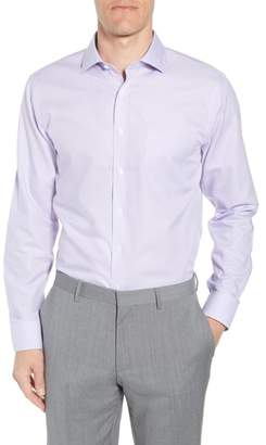 Nordstrom Smartcare(TM) Trim Fit Herringbone Dress Shirt