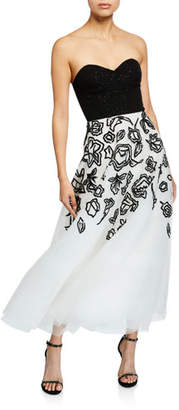 Ahluwalia Davis Strapless Midi Cocktail Dress