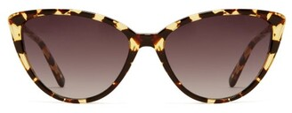 Garrett Leight Mildred 55 Tortoiseshell Effect Acetate Sunglasses - Womens - Tortoiseshell
