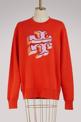 Tory Burch Logo cotton sweatshirt