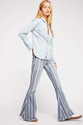 Denim Super Striped Flare Jeans