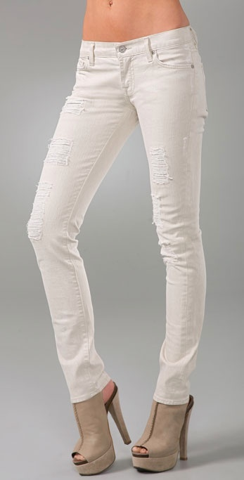 7 For All Mankind Roxanne Skinny Slimmer Jeans with Peek a Boo Lining