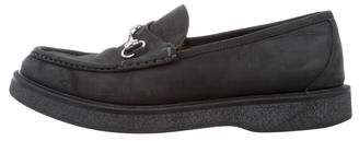 Gucci Round-Toe Horsebit Loafers