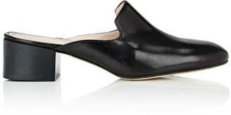 Barneys New York Women's Block-Heel Mules-BLACK $225 thestylecure.com