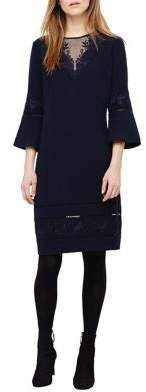 Phase Eight Pandora Embroidered Bell-Sleeve Dress
