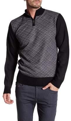 Yoki Quarter Zip Mock Neck Sweater