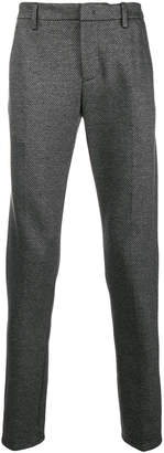 Dondup checked slim fit trousers