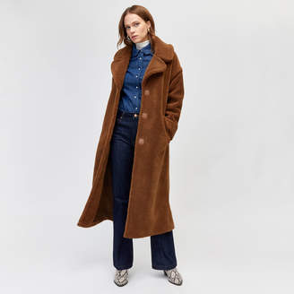Warehouse Maxi Faux Fur Coat