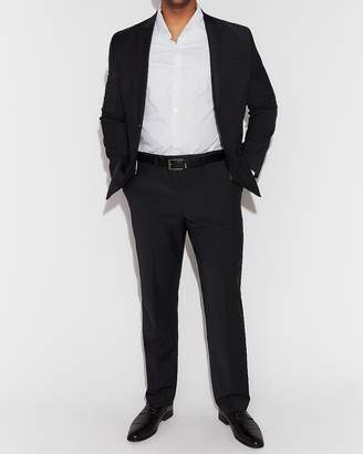 Express Classic Black Performance Stretch Wool-Blend Suit Pant