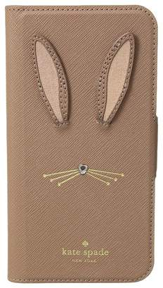 Kate Spade Rabbit Applique Folio Phone Case for iPhone X Cell Phone Case