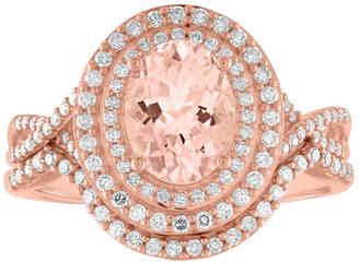 FINE JEWELRY Modern Bride Gemstone Womens 3/8 CT. T.W. Genuine Pink Morganite 10K Rose Gold Bridal Set