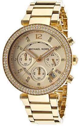 Parker Generic MK5354 Michael Women's Rhinestones Gold-Tone Analog Quartz Watch