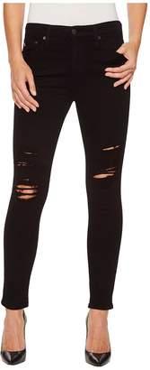 AG Adriano Goldschmied Farrah Skinny Ankle in 5 Years Black Destructed Women's Jeans