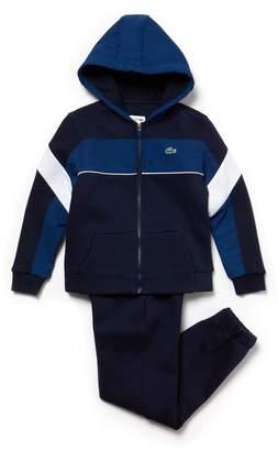 Lacoste Boys' SPORT Fleece And Taffeta Tennis Tracksuit