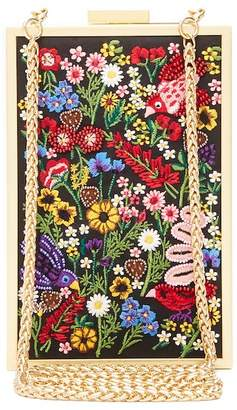 Alice + Olivia Sophia Flowers Embroidered Clutch