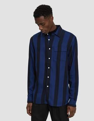 Saturdays NYC Miro Broad Stripe Long Sleeve Shirt