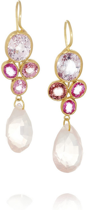 Marie Helene De Taillac Marie-Hélène de Taillac Monte Carlo 18-karat gold multi-stone earrings