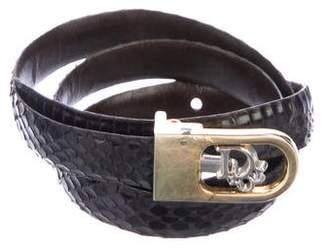 Christian Dior Snakeskin Logo Belt