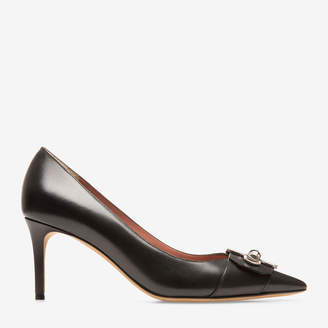 Bally Hirina Black, Women's calf leather pump with 70mm heel in black