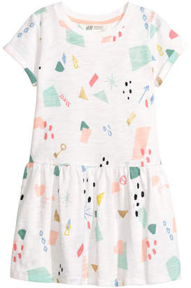 H&M Patterned Dress - White