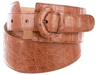 Nancy Gonzalez Crocodile Waist Belt