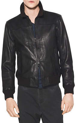 John Varvatos Star USA Leather Bomber Jacket