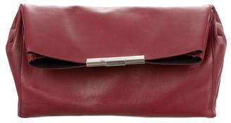CelineCéline Leather Fold-Over Clutch