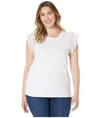 MICHAEL Michael Kors Size Lace Sleeve T-Shirt
